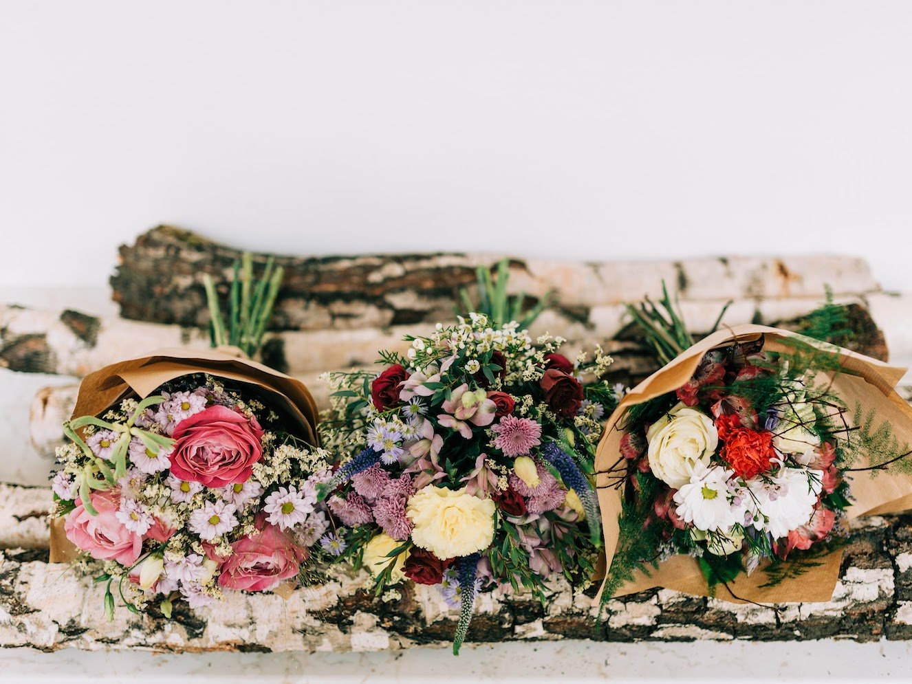 Vázané kytice z Květinářství GALERIE Brno
