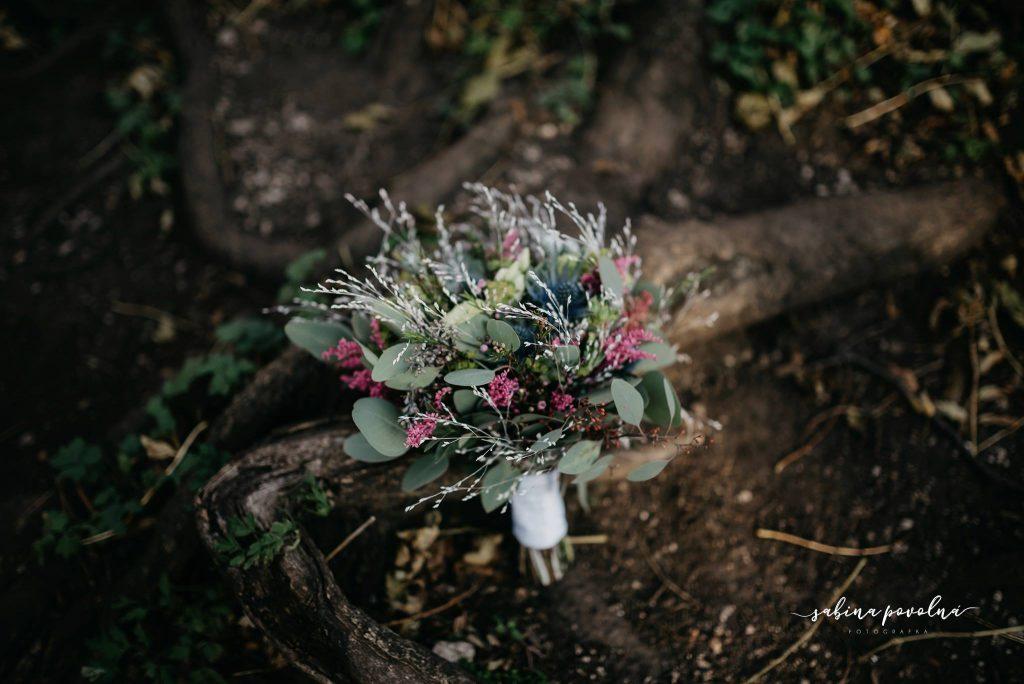 Svatební kytice - luční.