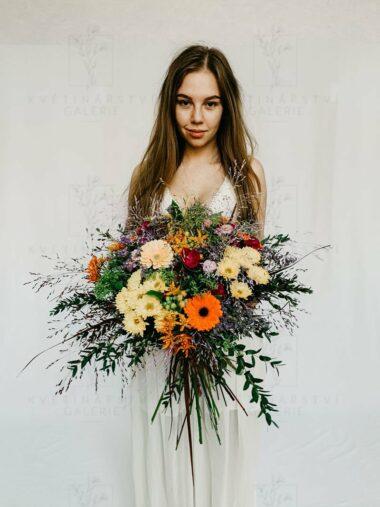 Vícebarevná kytice - donáška/doručení Brno
