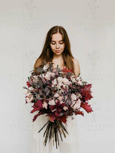 Kytice z květin v růžových odstínech - dovoz/rozvoz Brno