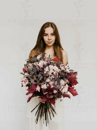 Kytice z květin v růžových odstínech - eshop Brno