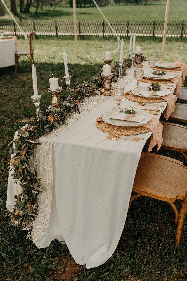 Svatební tabule v boho stylu Květinářství GALERIE Brno